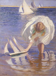 Edmund Tarbell - Girl with Sailboat